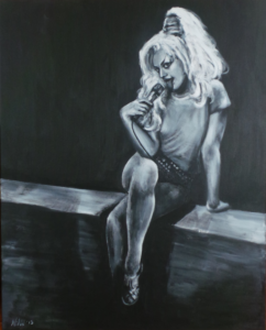 """Nina Hagen"", acryl on canvas, 80x100cm"