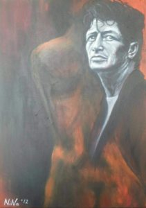 """Herman Brood"", acryl on canvas, 50x70cm"